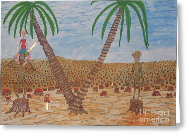 Dismay Paintings Greeting Cards - Last of the Rain Forest Greeting Card by Gregory Davis