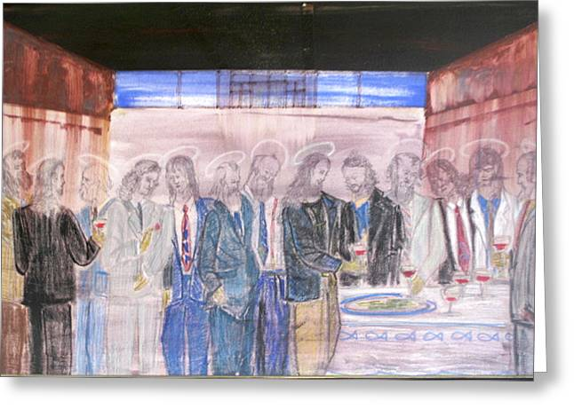 Last Supper 20th Century Greeting Card by Marwan George Khoury