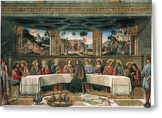 Last Supper Greeting Card by Cosimo Rosselli