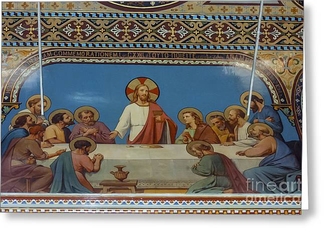 Polycarp Greeting Cards - Last Supper in Polycarp Church Greeting Card by Bob Phillips
