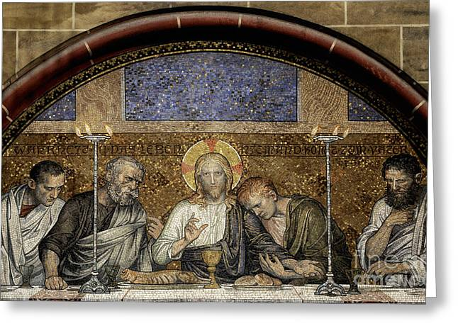 Holy Thursday Greeting Cards - Last Supper of Christ Greeting Card by Adrian Hancu