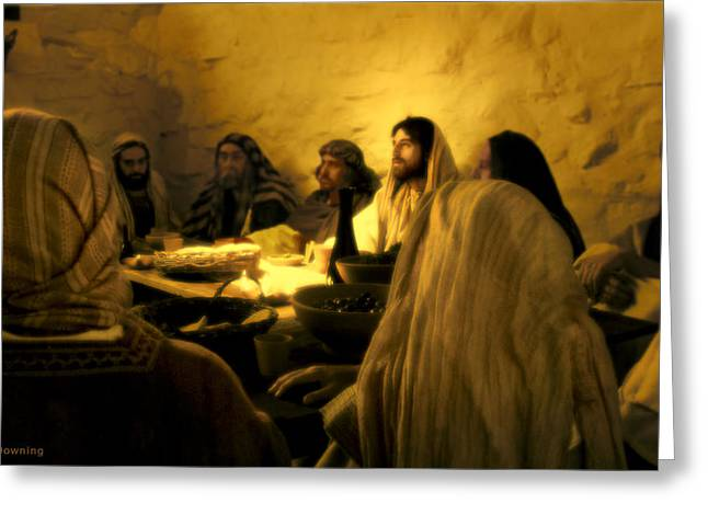 Real Face Digital Art Greeting Cards - Last Supper Greeting Card by Ray Downing