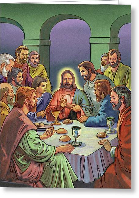 Last Supper Greeting Cards - Last Supper Greeting Card by Valerian Ruppert