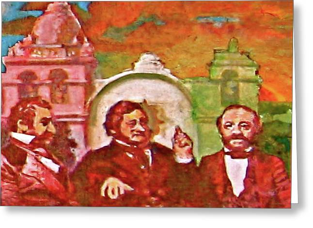 Pablo Greeting Cards - Last Three Mexican Generals Greeting Card by Dean Gleisberg
