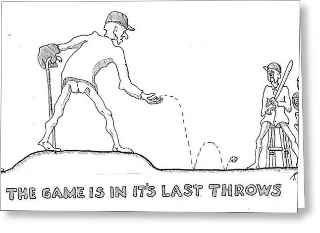 Last Throes Greeting Card by R  Allen Swezey