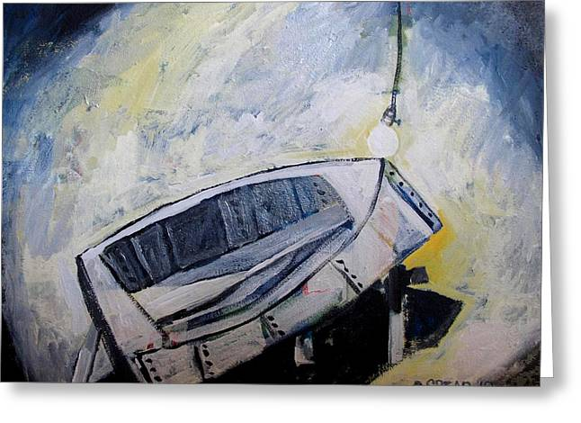 Repaired Paintings Greeting Cards - LAST TIME in the PATCH SHED Greeting Card by Charlie Spear