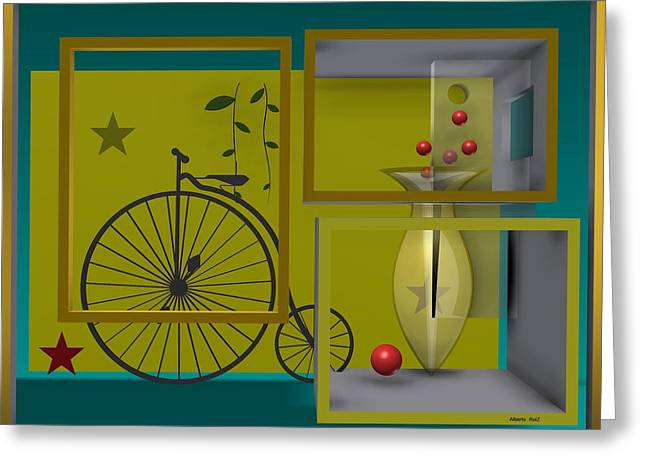 Rectangles Greeting Cards - Last years in yellow Greeting Card by Alberto  RuiZ