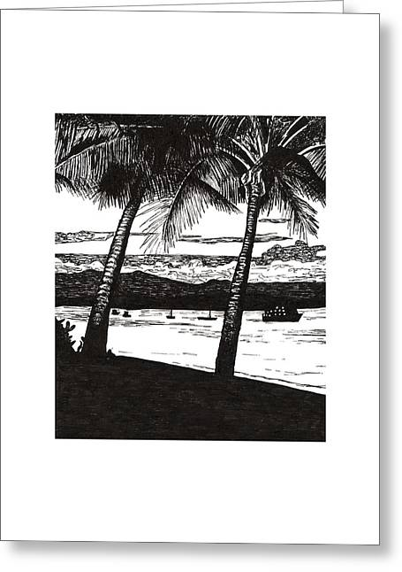 Late Afternoon At Dunk Island Greeting Card by Monica Hudson