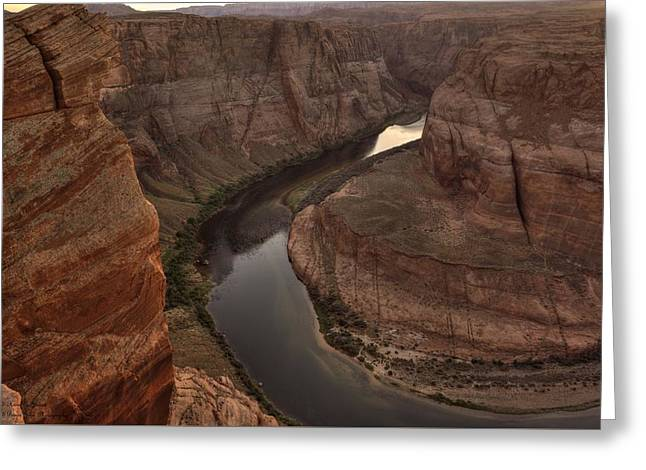 Artist Photographs Greeting Cards - Late Afternoon At Horsehoe Bend - 2 Greeting Card by Hany Jadaa  Prince John Photography