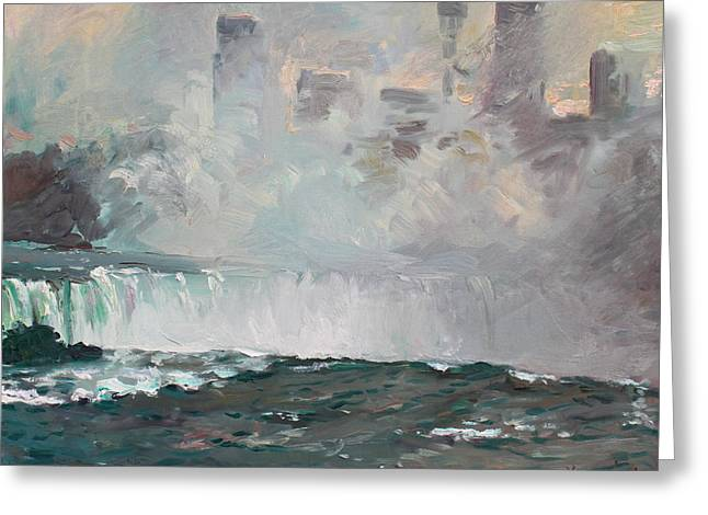Niagara Falls Greeting Cards - Late Afternoon in Niagara Falls Greeting Card by Ylli Haruni