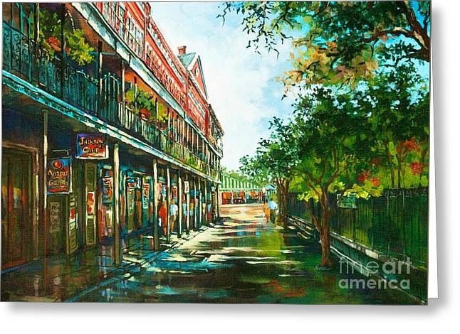 Louisiana Greeting Cards - Late Afternoon on the Square Greeting Card by Dianne Parks
