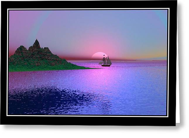Best Sellers -  - Storm Prints Digital Art Greeting Cards - Late Afternoon Greeting Card by William  Ballester