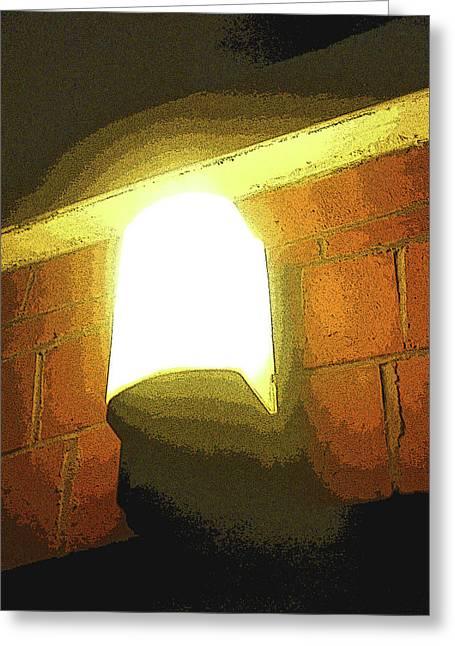 Night Lamp Greeting Cards - Late at Night Greeting Card by Roberto Alamino