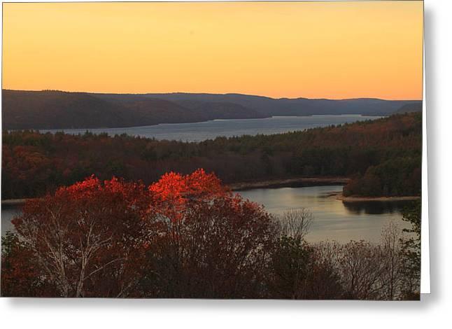 Late Autumn At Quabbin Greeting Card by John Burk