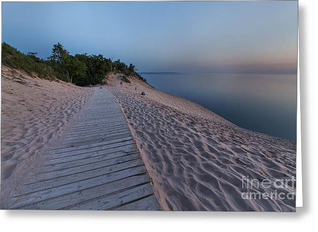 Scenic Drive Greeting Cards - Late Evening in Summer at The Dunes Greeting Card by Twenty Two North Photography