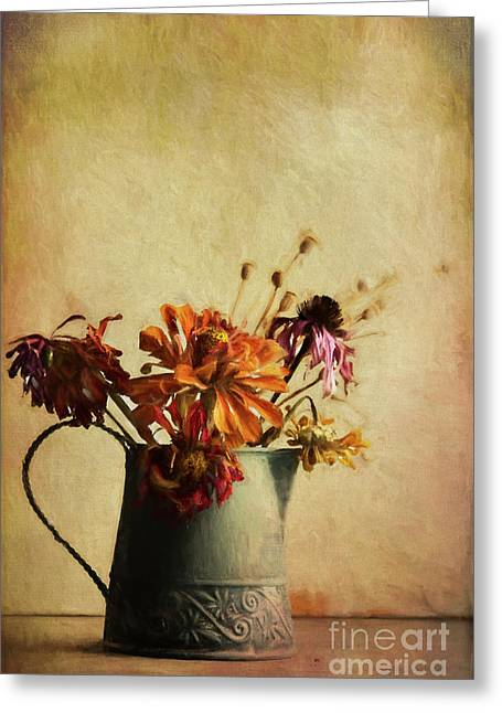 Late Fall Bouquet Greeting Card by Elena Nosyreva