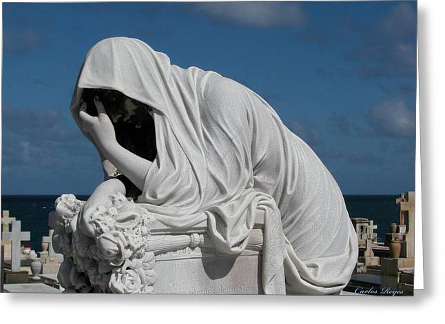 Rincon Greeting Cards - Late Mourning Greeting Card by Carlos Reyes