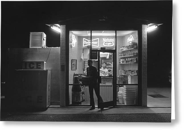 Haze Greeting Cards - Late Night Beer Run Greeting Card by Matt Plyler