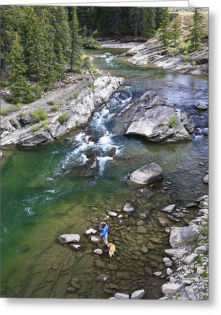 Trout Fishing Greeting Cards - Late Season Fishing On The Gros Ventre Greeting Card by Drew Rush