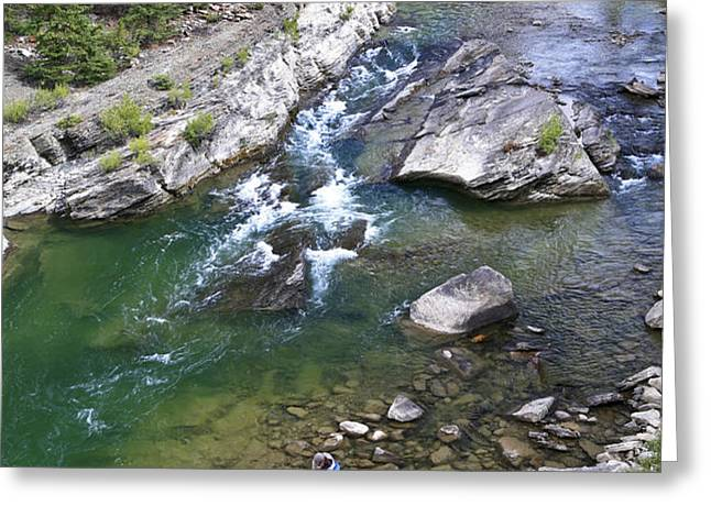 Late Season Fishing On The Gros Ventre Greeting Card by Drew Rush