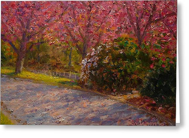Terry Perham Greeting Cards - Late Spring Blossom Greeting Card by Terry Perham