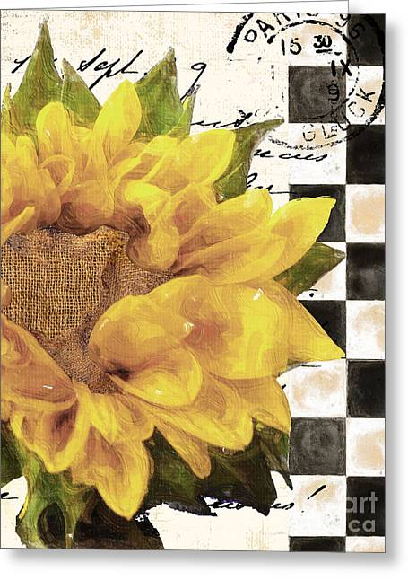 Late Summer Yellow Sunflowers Greeting Card by Mindy Sommers