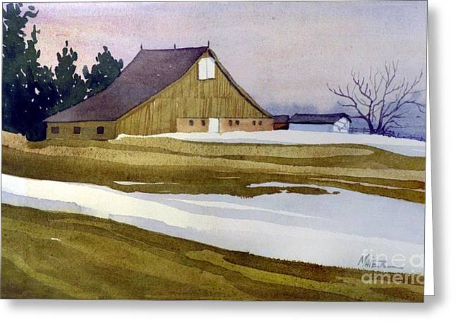 Late Winter Melt Greeting Card by Donald Maier
