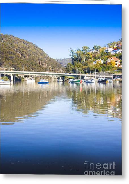 Launceston Harbour Greeting Card by Jorgo Photography - Wall Art Gallery