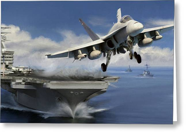 F-18 Greeting Cards - Launch Greeting Card by Dale Jackson