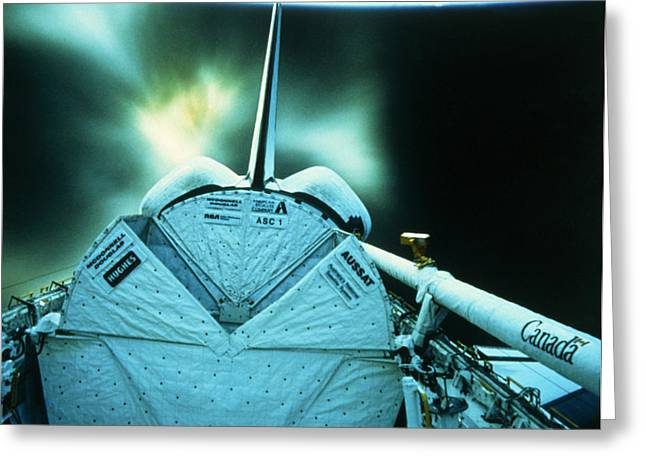 Deployment Greeting Cards - Launch Of A Business Satellite Greeting Card by NASA / Science Source