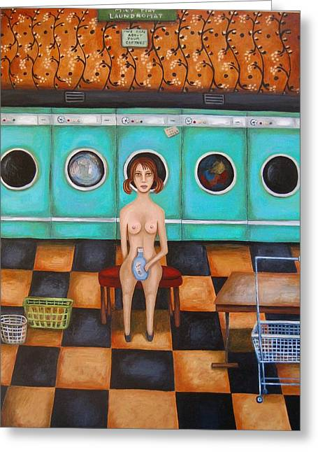 Laundry Day 4 Greeting Card by Leah Saulnier The Painting Maniac