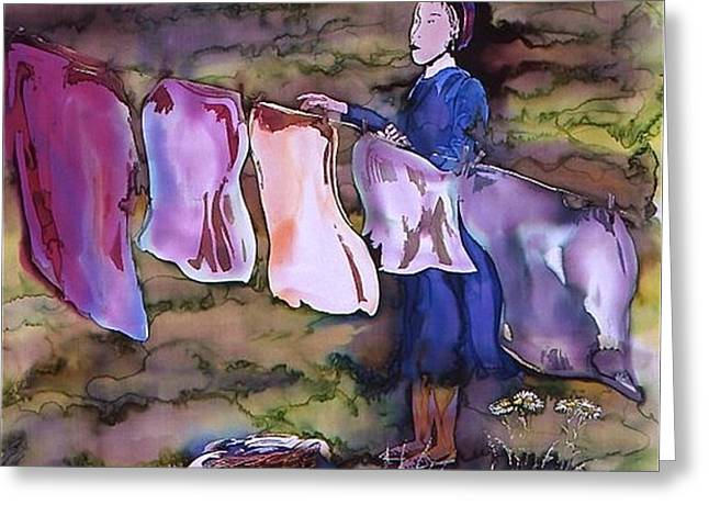 laundry day Greeting Card by Carolyn Doe
