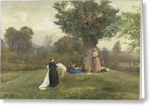 Laundry Day, West Somerset  Greeting Card by John William North