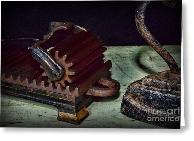 Laundry - The Iron And The Fluter Greeting Card by Paul Ward