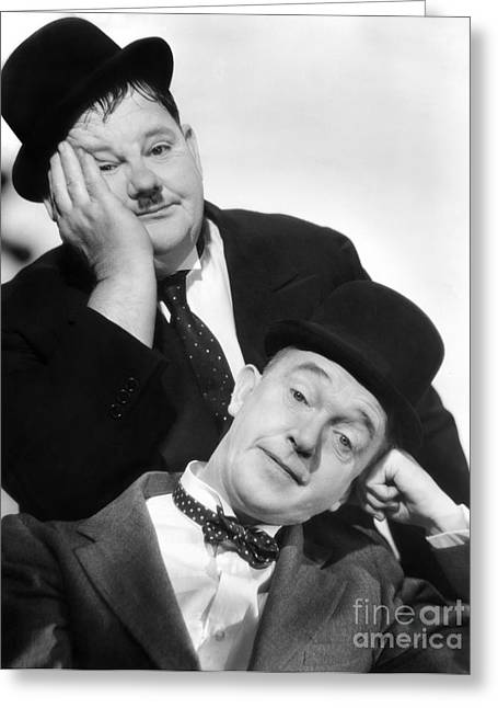 Comedian Greeting Cards - Laurel And Hardy, 1939 Greeting Card by Granger