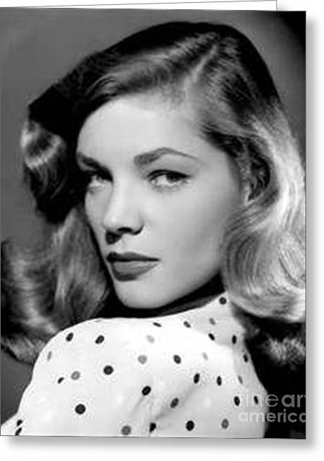 Lauren Bacall Greeting Cards - Lauren Bacall Greeting Card by Anthony Morretta