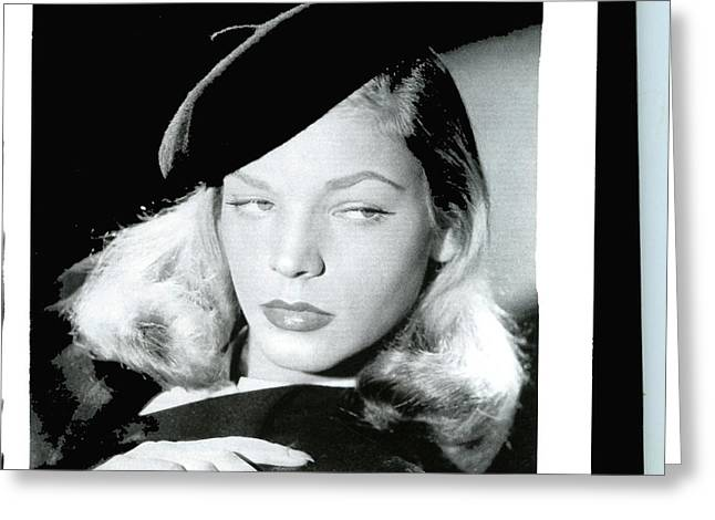 Lauren Bacall Wearing Beret Warner Brothers Publicity Shot 1944-2016 Greeting Card by David Lee Guss