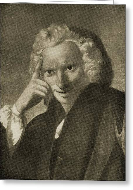 Laurence Sterne, 1713-1768. English Greeting Card by Vintage Design Pics