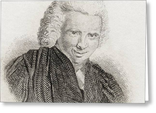 Laurence Sterne, 1713 To 1768. English Greeting Card by Vintage Design Pics