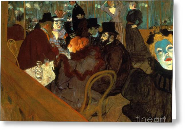 1894 Greeting Cards - Lautrec: Moulin Rouge Greeting Card by Granger