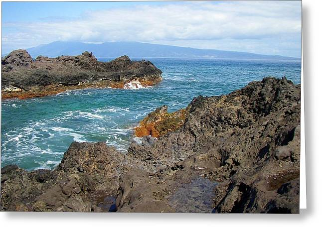 Ocean Scenes Greeting Cards - Lava Coastline - West Maui Greeting Card by Glenn McCarthy Art and Photography