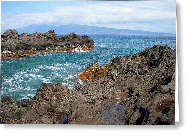 Lava Coastline - West Maui Greeting Card by Glenn McCarthy Art and Photography