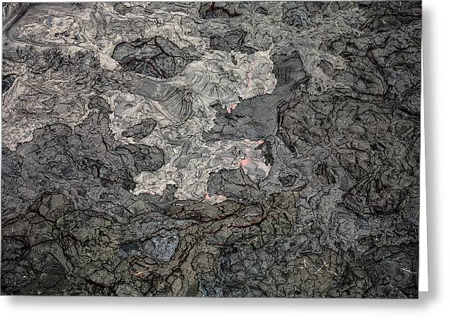 Greeting Card featuring the photograph Lava Flow by M G Whittingham