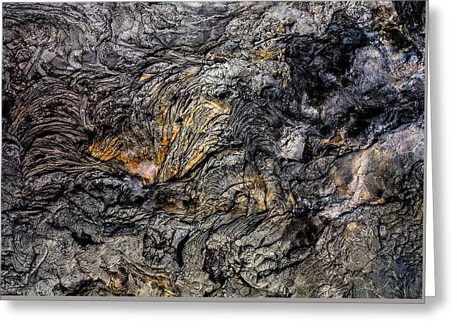 Greeting Card featuring the photograph Lava by M G Whittingham