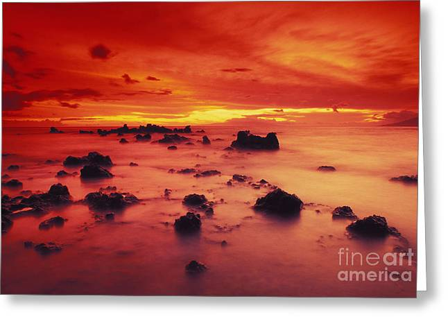 Lava Rock Beach Greeting Card by Dave Fleetham - Printscapes