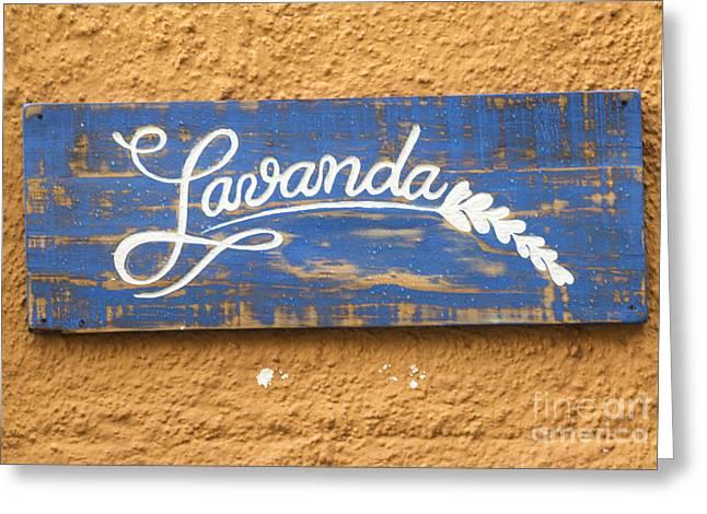Texting Greeting Cards - Lavanda Greeting Card by Juli Scalzi