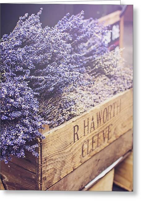 Borough Market Greeting Cards - Lavender at Borough Market Greeting Card by Heather Applegate