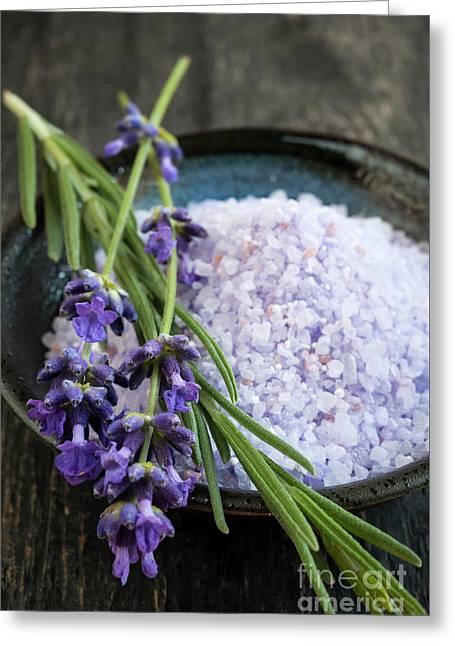 Lavender Bath Salts Greeting Card by Elena Elisseeva
