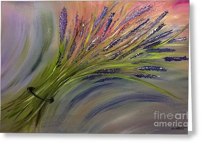 Dawid Greeting Cards - Lavender Bunch Greeting Card by Dawid Theron