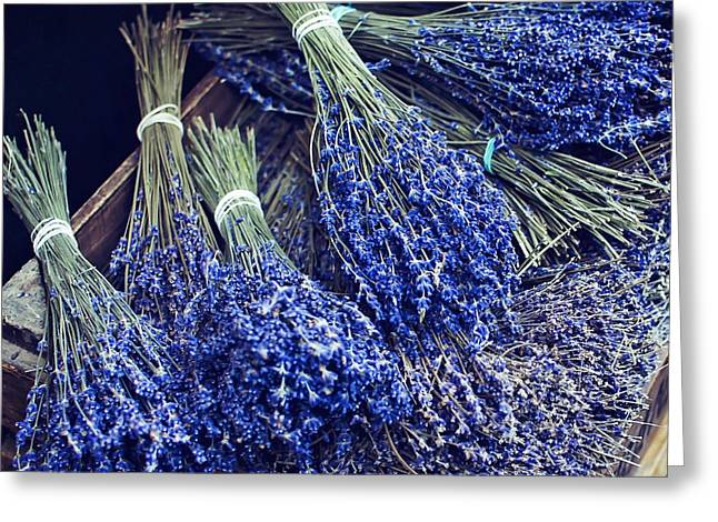 Borough Market Greeting Cards - Lavender by the Bunch Greeting Card by Heather Applegate